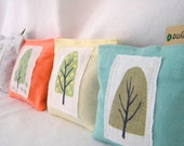 Lavender Sachets Four Seasons Reusable Dryer Sheets upcycled pillow sachets Set of Four