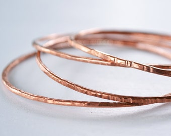 Bangle Bracelet - Copper Bangle Bracelet - Stacking Bangle Bracelet - Bangles - Layering Jewelry - Stacking Bangles - Copper Jewelry B1066
