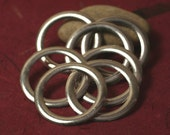 Oxidized antique silver tone large O ring 40mm outside diameter 5mm ring width 13g (1.8mm) thick, 4 pcs (item ID YDAS3208)