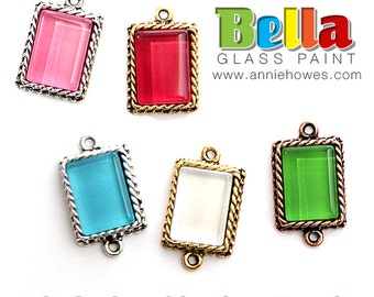 Make Glass Jewelry Gems with Bella Paint Glass Mosaic Paint. Heat Cured. Starter Pack. Online Video tutorial, see listing for details.