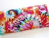 Heating Pad (Microwavable)- TIE DYED  // Cold pack // Buckwheat Seeds and Rice // Removable Cover