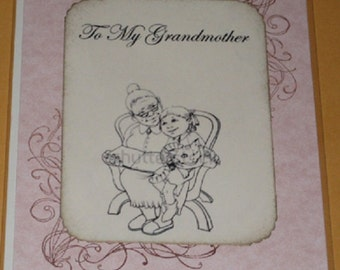 To My Grandmother Greeting Card Mothers Day