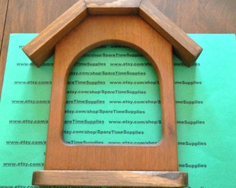 "10189-100A Mini Barn Picture Frame - 8"" x 7 3/4"" - stained wood - 1 pc"
