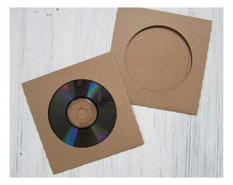 25 CD sleeve holders, kraft CD holder view, Wedding DVD, Photography Cd Holder, Cd Wedding Album, Wedding Cd Favor