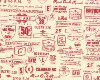 Wishes - Fabric From Moda - Vanilla Red - 9.95 Per Yard