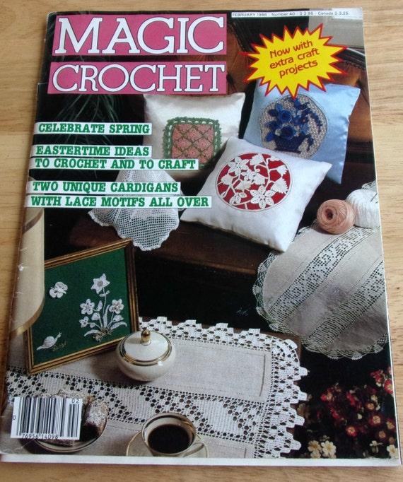 Magic Crochet 1986 Vintage crochet pattern magazine Home decor doilies ...