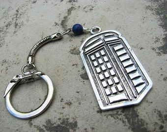 TARDIS Keychain for Fans of Doctor Who