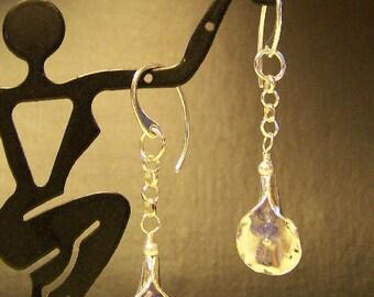 Sterling Silver Handmade Tanzanite Calla Lily Earrings