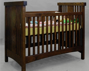 Arts & Crafts, Mission, Ash, Crib. Converts to a Couch or Bed. ON SALE 25% OFF