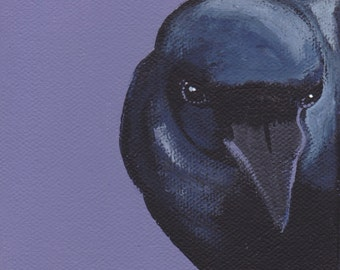 Raven Attitude is everything blank greeting card