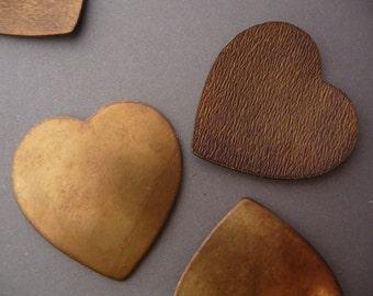 Brass Heart Stampings Blanks Large - Vintage (4)
