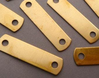6 Brass Logo Tags - Label or Frame - ID Bracelet