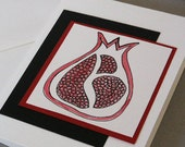 Handmade  Greeting Card with Pomegranate design