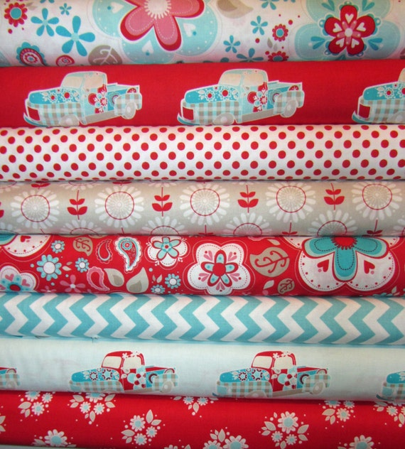 8 Fat Quarters Twice as Nice Spice  by The Quilted Fish Riley Blake Fabric
