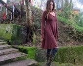 Organic Ritual Babydoll Short Dress (light hemp/organic cotton knit) - organic dress