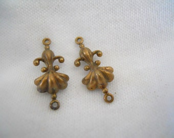 Dainty Vintage Brass Connectors