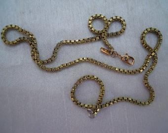 Vintage Brass Box Chain Blank