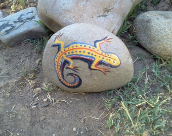 Lizard - Painted  Rock