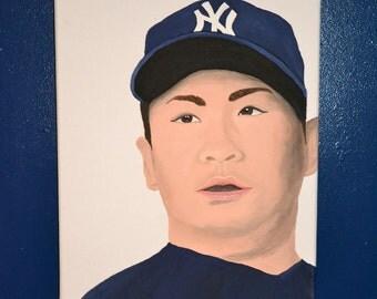 Masahiro Tanaka New York Yankees 12x16 Painting