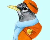 Robin Lady art print by Ryan Berkley 8x10
