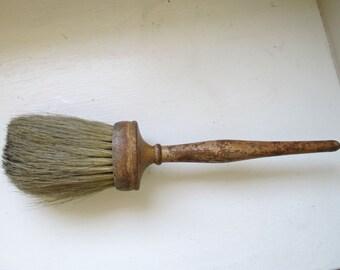 Vintage Horse Hair Brush - Dusting Brush - Wooden Handle