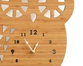 Large Wall Clock, Big Buddy Owl Clock, Ecofriendly wall hanging clock for room decor, perfect for kids room or living room, wooden clock