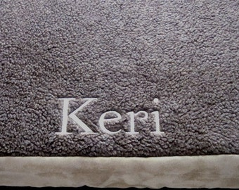 "Crate Pad - Brown or Black Sherpa - 3"" Memory Foam - Dogs - Pets - Includes Embroidered Personalization"
