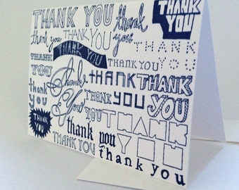 THANK YOU letterpressed cards