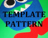 Applique PDF TEMPLATE Pattern ONLY Mitch The Monster...New