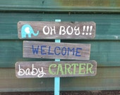 Welcome Home Baby Lawn Sign Shower Sign Decorations Its a Boy Sign Its A Girl Sign Yard Sign Maternity Sign Wooden Signs Hand Painted Sign