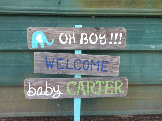 Welcome home baby lawn sign shower sign decorations its a boy for Baby welcome party decoration ideas