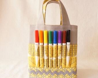 ARTOTE MINI Kids Crayon Art Tote Flower Girl GiftActivity Bag in Seasons in the Sun