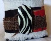 African fabric cuff bracelet A1
