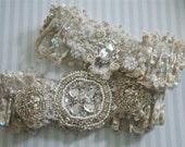 Wedding Garter Set, Goddess Garter Set, Swarovski Jeweled Garters, Weddings, Bride Garter Set
