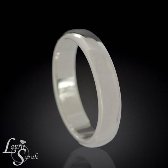 Men's Platinum Wedding Band, Platinum Comfort Fit Wedding Band, Platinum Men's Wedding Ring, Comfort Fit Men's Wedding Ring - LS897