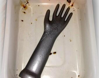 Silver Porcelain Glove Mold Prop #501