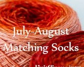 Matching Socks Gradient Yarn Club Luxury Yarns Superwash Wool Subscription One Package