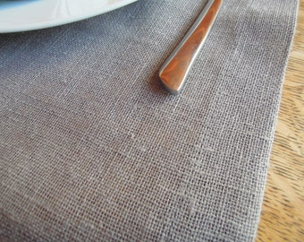 "Grey Linen Table Runner, 16"" x 71"", Modern Country, Rustic, Table Linens"