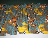 FISH CURTAIN VALANCE  - Clown Fish - Nemo - Nursery