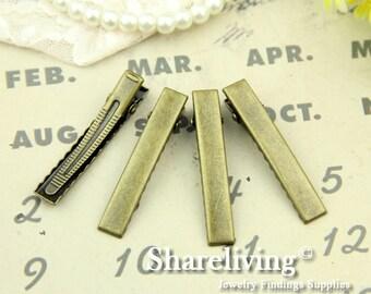 20pcs 47mm Antique Bronze Alligator Hair Clips pin HA203B