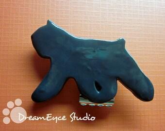 Bouvier des Flandres Armband Number Holder Dog Show Artist Hand-Made Brooch Dog Art Jewelry C5