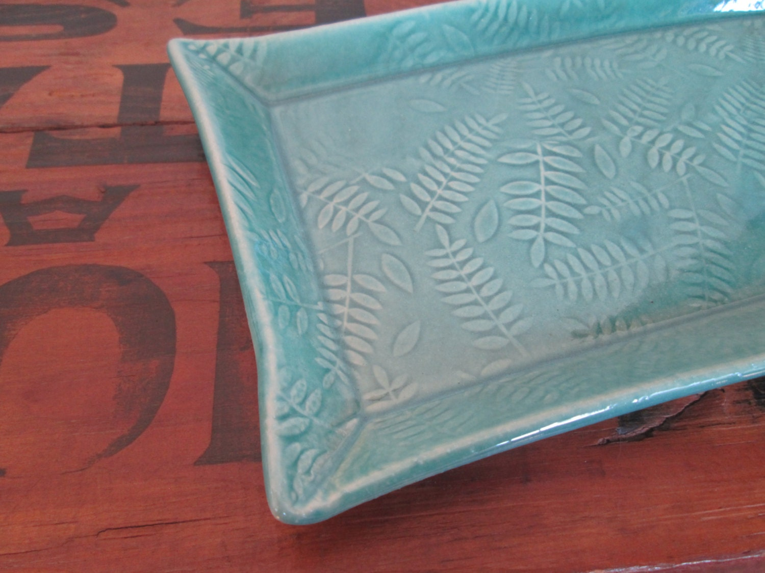 Rectangular plate candle tray under 25 ready by for Long rectangular candle tray