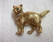 Vintage Kitty Cat Pin Brooch
