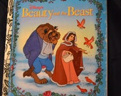Vintage Children's Book Beauty and the Beast Little Golden Book Five Books for Ten Dollars