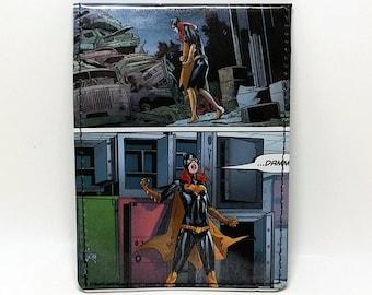 Sewn Comic Book Wallet - Batgirl Design 1