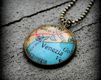 Venice Map Pendant