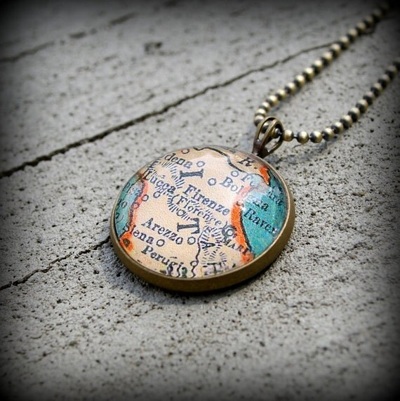 Florence Map Necklace