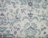 Lecien Vintage Art Store Damask in Blue 30034l-70 oop Japanese Import Fabric novelty damask cotton fabric Yardage Sold by the Yard