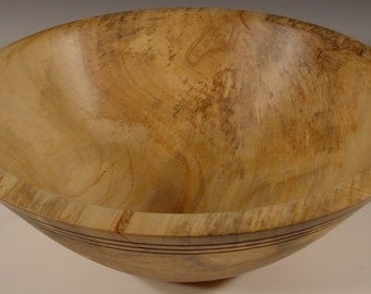 Big Sweet  Gum Wood Bowl Hand Turned Wooden Bowl Art 5538