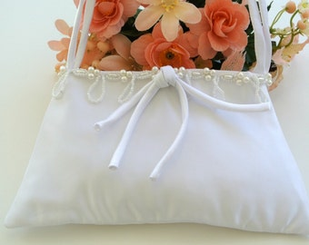Evening Bag , Small White Evening Bag , First Communion Purse , Wedding Purse , Bridal Purse , Prom Purse , White Purse , Bridal Handbag